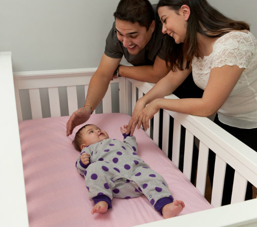 To reduce the risk of SIDS, put your baby to sleep on her back.