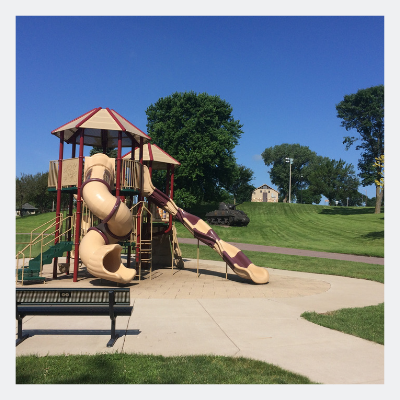 Parks are a great place to play in the summer.